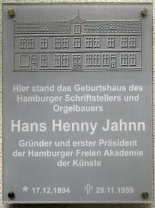 Hans Henny Jahnn Schild