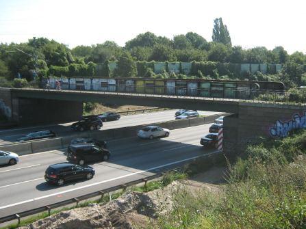 A7 Brücke Güterumgehungsbahn Stellingen