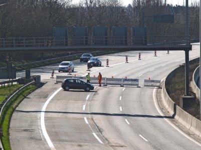 Sperren auf der Autobahn in Stellingen