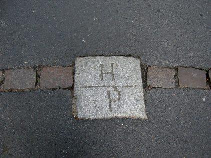 Grenzstein auf der Högenstraße