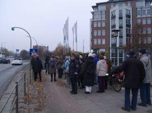 Kieler Straße vor der A7-Einfahrt Stellingen