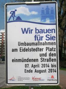Baustelle Eidelstedter Platz