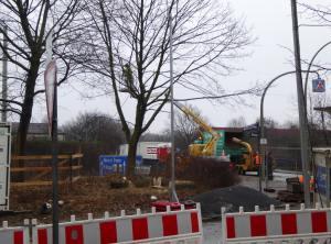 Die ersten großen Bäume werden wegen dem A7-Ausbau gefällt