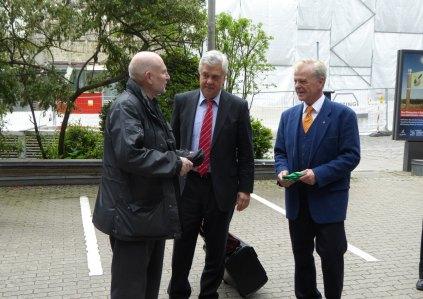 Verkehrskoordinator Fuchs und Senator Horch
