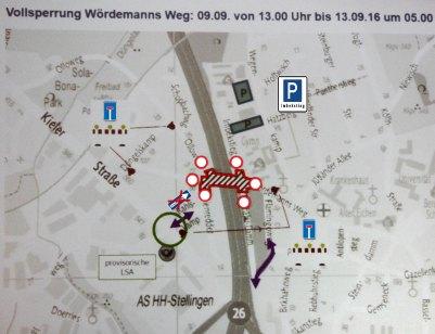 Sperrungen am Wördemanns Weg