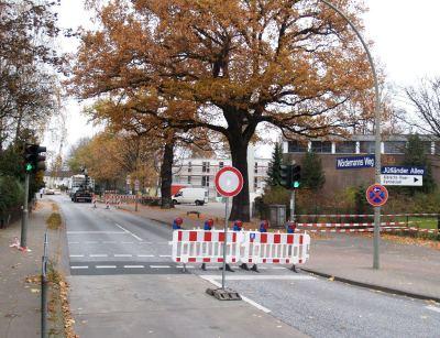 Wördemanns Weg voll gesperrt