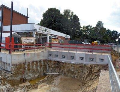 Widerlager Behelfsbrücke
